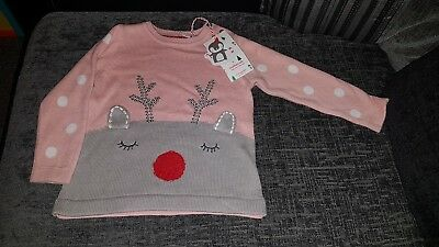 BNWT mothercare Christmas Jumper 9-12 Months