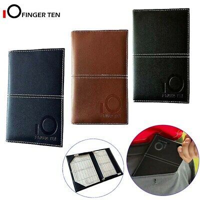 Golf Scorecard Holder Deluxe PU with Free 2 Score Sheets Yardage Book Cover Gift
