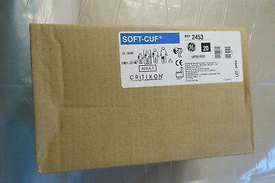 GE 2453 Critikon Soft-cuf Adult Blood Pressure Cuffs 23-33 cm. 20 pieces