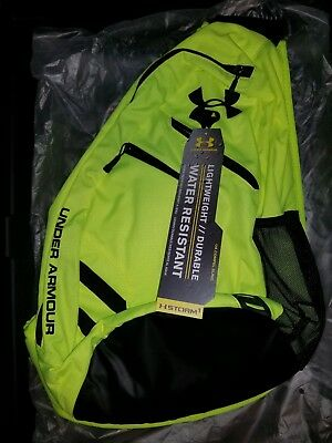 buy popular 19e56 02375 New Under Armour Compel Sling 2.0 Backpack, Hi Vis Yellow   Black, One Size