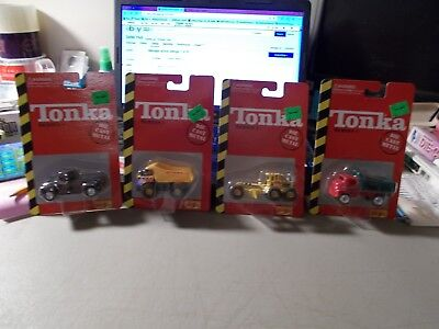 1998 Tonka Set Of 4 Series 1 In Package Road Grader 2 Diff. Dumps Pickup Truck