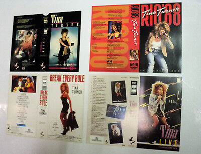 Tina Turner Set Of 4 Dutch Promo Unused Video Inlay Sheets Pmi Boudisque Holland