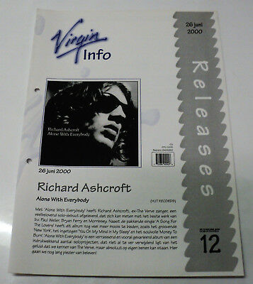 Richard Ashcroft Dutch Promo Release Folder Alone With Everybody The Verve