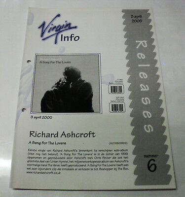 Richard Ashcroft Dutch Promo Release Folder A Song For The Lovers Verve Holland