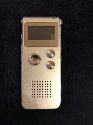 8GB Digital Voice Recorder (Portable, Rechargeable with MP3)