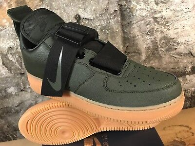 NIKE Air Force 1 UTILITY AO1531-300 SEQUOIA GREEN BLACK BROWN GUM AF1 LOW 8-13