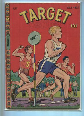 Target Comics #5 V8 Solid Grade Track And Field Cover Gem