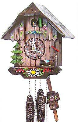 Hubert Herr,  Black Forest  lovely farm house style hand painted  cuckoo clock.