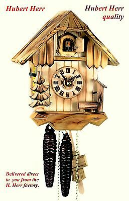 Hubert Herr,  Black Forest  farm house style, 1 day weight driven cuckoo clock.