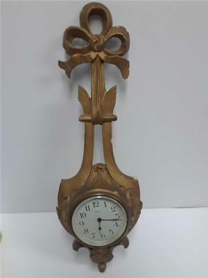 Antique 8 Day New Haven Wall Hanging Clock *Works*