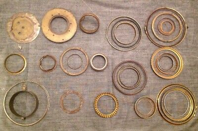 Antique Clock Brass Bezels Frames Parts Collection From Clockmakers Spares