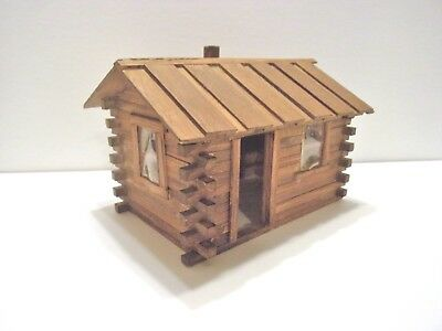 Unique Vintage Hand Made? Rustic Wood Cabin House