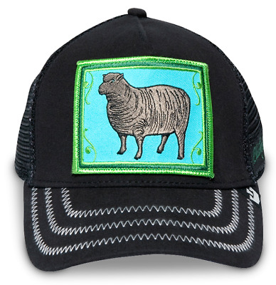 42521facb2fad GOORIN BROS. ANIMAL Farm Trucker Snapback Hat Cap Green Black Sheep ...