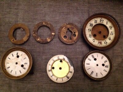 Antique Clock Brass Bezels Frames Faces Collection From Clockmakers Spares
