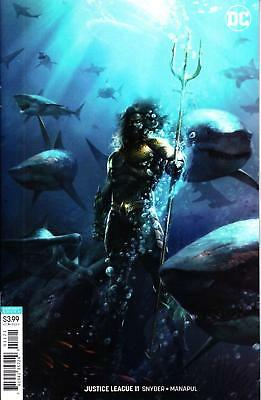 Justice League #11 Francesco Mattina Variant Aquaman Movie Coming 2018 Series