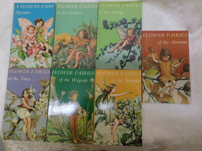 7 x books FLOWER FAIRIES  by CICELY M BARKER - collection of poems and pictures