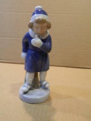 "Royal Copenhagen "" January Girl "" Porcelain Figurine Ice Skating # 4523"