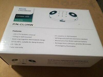Philips Chloride LED Emergency Light CLU series   NEW FREE SHIPPING