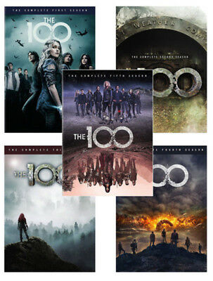 The 100: The Complete Series Seasons 1,2,3,4,5 (2018, DVD, 17-Disc-Box Set) 1-5