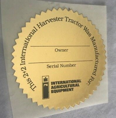 Vintage International Harvester IH  Red Power  3588 2+2 Owners Program Sticker