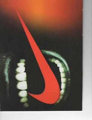 Nike Swoosh Fashion Print Ad - Red Nike Swoosh In Someones Mouth - Frame It