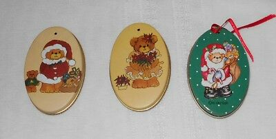Lucy Oval Tin Box Ornaments