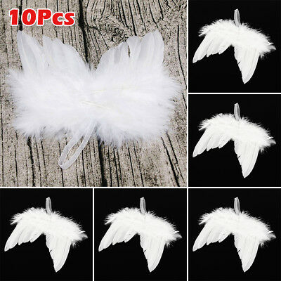10Pcs White Fairy Angel Feather Wings Christmas Fancy Dress Costume Accessory