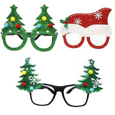 Christmas Glasses Xmas Tree Sunglasses Frame Party Gift Photo Props DIY Decor