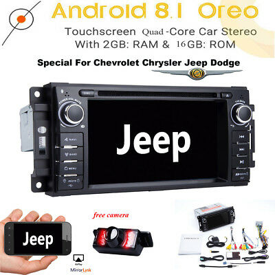 "6.2"" Android 8.1 Car DVD GPS Radio Player for Jeep Chrysler Dodge 2009-2011 DAB+"