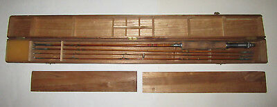 Vintage Gold Tiger Bamboo Fly Rod boxed 4 section Very Nice