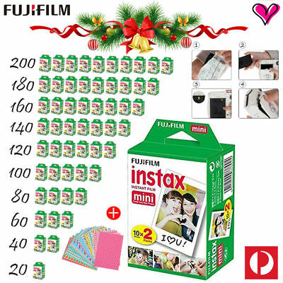 Fujifilm Instax Mini White Film Fuji Mini 8 9 Polaroid 300 Instant Camera Photos