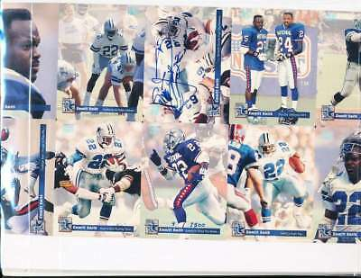 e362cddd819 Emmitt Smith Signed Framed 1993 Pro Set Uncut Card Sheet Cowboys Florida
