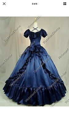 Victorian Princess Saloon Girl Fancy Dress Witch Ghost Halloween Costume N 206 L