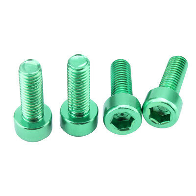 4x Aluminum Alloy Bicycle Bike Water Bottle Cage Bolts Holder Socket Screws