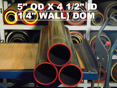 "DOM  MILD STEEL TUBING   5.00 "" OD  x  4.50 "" ID  ( .250  WALL )  34 "" LONG"