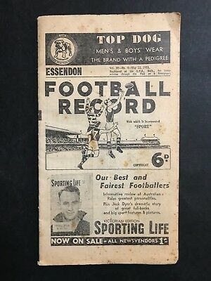 Essendon Football Record May 12Th 1951 Vs Collingwood