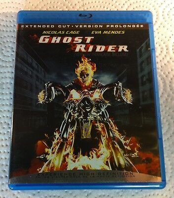 Ghost Rider (Blu-ray Disc, 2007, Canada) Extended Cut Like New