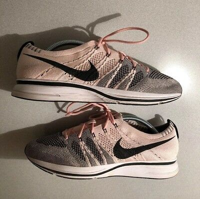 Nike Flyknit Trainer Sunset Tint Pink Black White Size 9.5 AH8396 600