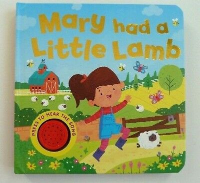 Mary Had a Little Lamb Sound Book Ages 0 Months+ to 4 Years Christmas Gift New