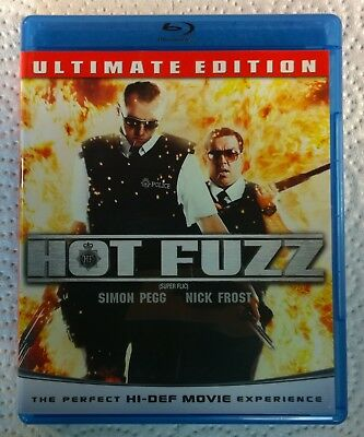 Hot Fuzz (Blu-ray Disc, 2009, Canada) Ultimate Edition Like New