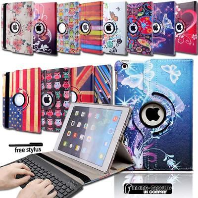 Leather Stand Cover Case With Wireless Bluetooth Keyboard For iPad 2/3/4/Air/Pro