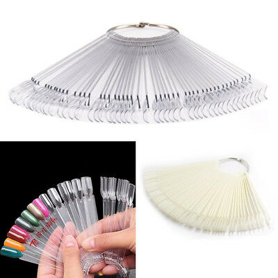 50pcs UV Gel Polish Display Nail Art Tool Palette Color Chart Showing Sample DIY