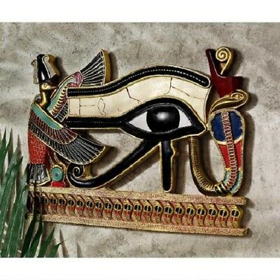 Egyptian God of Light Eye of Horus Amulet of Protection Wall Sculpture