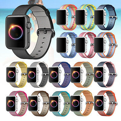 Nylon Silicone Sport Strap Band Bracelet For Apple Watch 4 3 2 1 38/40/42/44mm