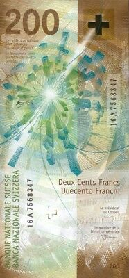 Switzerland 200 Francs 2018 (2016) !!!first A Series!!! P-New Unc