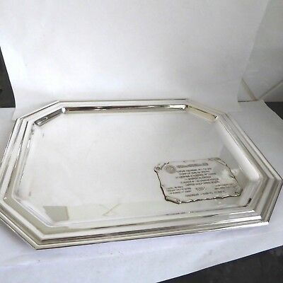 VINTAGE Laurent Perrier Champagne SILVER PLATE SERVING TRAY SALVER WAITER GLASS