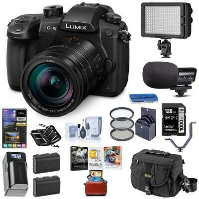 Panasonic Lumix DC-GH5 Mirrorless W/Leica 12-60mm F/2.8-4.0 W/ Free Acc Bundle