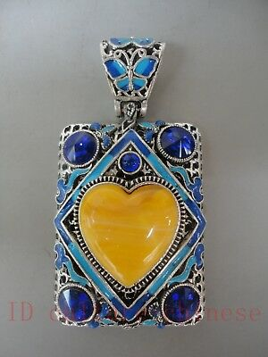 Collected China Tibet Cloisonne Mosaic Jewelry Amulet Pendant Decoration