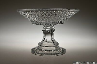 ca. 3Q 1800s INVERTED DIAMOND by Unknown FLINT CLEAR Compote