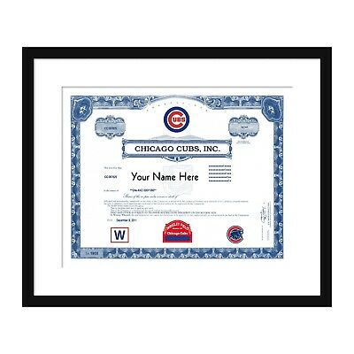 Chicago Cubs Stock Certificate Custom